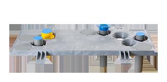 Meterkastvloerplaten, invoerbochten en funderingsdoorvoer