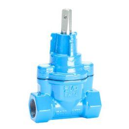 """AVK 03/00 Gietijzer Dienstleidingafsluiter PN16 25mm x 1"""" blauw"""