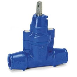 AVK 03/30 Gietijzer Dienstleidingafsluiter PN16 PE32x32mm blauw