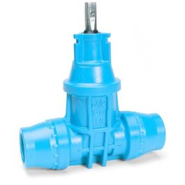AVK 16/50 Polyoxymetheen Dienstleidingafsluiter PN16 32mm blauw