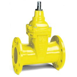AVK 02/70 Gietijzer Flensafsluiter PN10/16 DN40 GAS geel