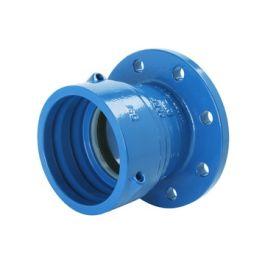 Gietijzer Trekvast E-stuk PN10 110mm blauw