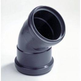 PP Bocht 80mm 2x mof 45° zwart