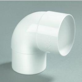 PVC Bocht 80mm mof/ verjongd spie 87,5° wit