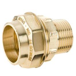 "Beulco MS Rechte overganskoppeling PN10 16mm x 1/2"" klem/budr"