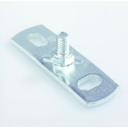 ELVZ Staal Muurplaat buitendraad met lasbout kort M8 x 10mm