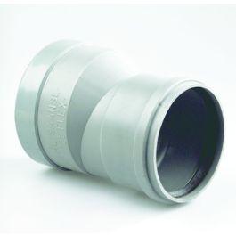 PVC Flexibel huiskolkaansluitstuk 125mm grijs