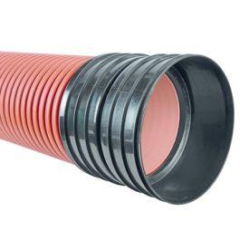 Ultra Kyma PP Buis DN200mm SN8 mof/spie roodbruin L=6m