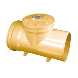PVC Ontstoppingsstuk met vergrendelbare keerklep 250mm mof/spie RB