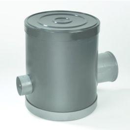 PVC Controleput 315mm 80x80mm 2x klikmof grijs H=800mm