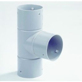 PVC T-stuk 50mm 3x klikmof grijs
