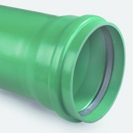 PVC-U3 Buis 250x7,3mm SN8 KOMO mof/ spie groen L=5m