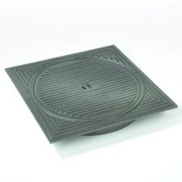 Gietijzer deksel met kader voor PVC put 315mm