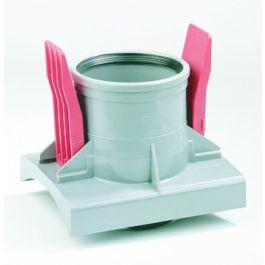 PVC Knevelinlaat 200x125mm grijs