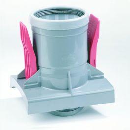 PVC Knevelinlaat zetting 200x125mm grijs