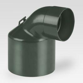 DYKA AIR Eindstuk 80mm - 125mm ventiel 2x mof 90° groen H=100