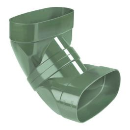 DYKA AIR Staande bocht ovaal 195mm 2x lijmmof 90° groen
