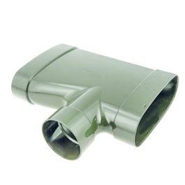 DYKA AIR Verloop T-stuk ovaal 195-80mm zijaansluiting 3x lijmmof 90°