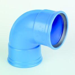 DykaSono PVC Bocht 50mm 2x mof 90° blauw