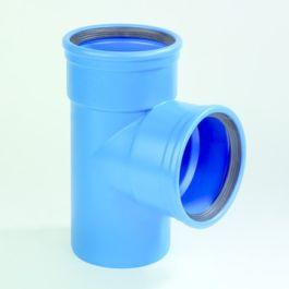 DykaSono PVC T-stuk 160mm 2x mof/ 1x spie 90° blauw