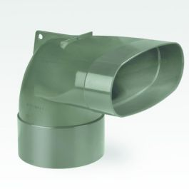 DYKA AIR Eindstuk ovaal 195mm - 125mm ventiel 2x lijmmof groen H=50
