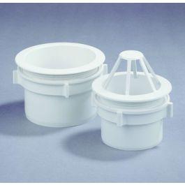 PVC Uitloop met wartel 80mm wit
