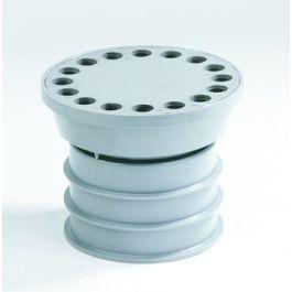 PVC Balkonafvoerset met ABS rooster 80mm