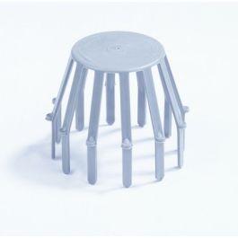 HWA PVC Bolrooster 70-80mm grijs