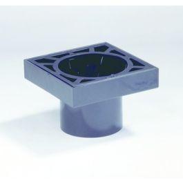 PVC Ontlastput met PP rooster 150x150mm 80mm