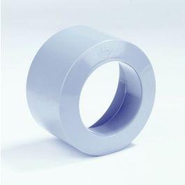 PVC Inzetverloopring van HWA op riool 75x70mm spie/ mof grijs
