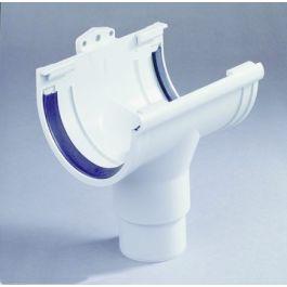 PVC Midden uitloop 70-80mm grijs