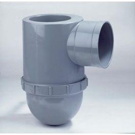 PVC Rioolsifon 110x110mm mof/ lijmmof grijs