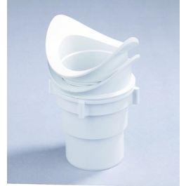 PVC Uitloop met wartel 70-80mm grijs