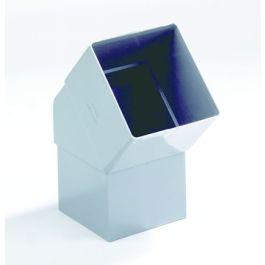 PVC Vierkante bocht 80x80mm lijmmof/ verjongd spie 45° grijs