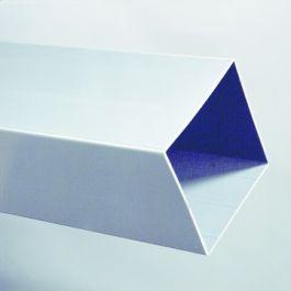 PVC Vierkante buis 80x80x1,5mm grijs L=4m