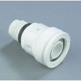 HENCO PVDF Aansluitstuk verdeler 20mm push-fit/ buitendraad wit