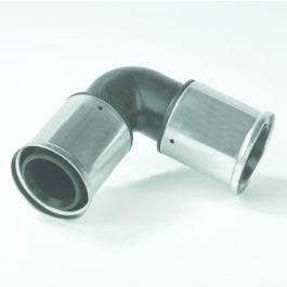 Henco PVDF Knie 16mm 2x pers 90° zwart