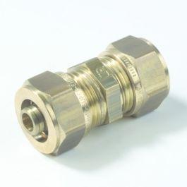 VSH Messing Rechte koppeling 16mm 2x Multi super knel