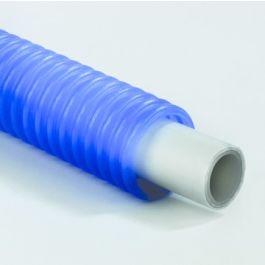 Henco Alupex Sandwichbuis met PE mantelbuis 16x2,0mm blauw R=50m