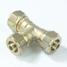 VSH Messing T-stuk 16mm 3x Multi super knel 90°