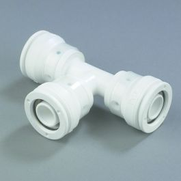 HENCO PVDF T-stuk 16mm 3x push-fit 90° wit