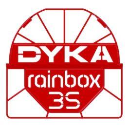 Duborain Rainbox 3S Channel kap 160x160mm rood