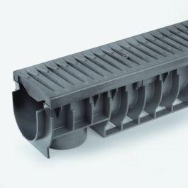 PE/PP Draingoot Pro inclusief kunststof rooster 151mm L=1m