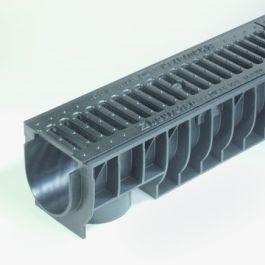 PE/PP Draingoot Standard inclusief gietijzeren rooster 135mm L=1m