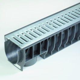 PE/PP Draingoot Standard inclusief verzinkt rooster 135mm L=1m