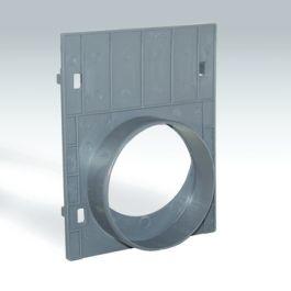 PE/PP Kopplaat Standard met uitloop 110mm