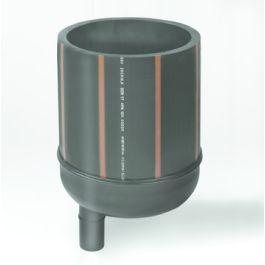 "PE Peilput PE onderbak 280mm x 1 1/2"" x 50mm zwart"