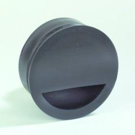 PP Stankslot, zandvanger 110mm zwart