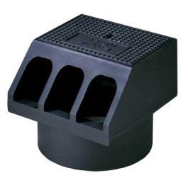 Gietijzer Trottoirkolkkop RWS B125 315mm zwart