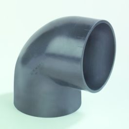 PE Bocht 50mm 88,5° zwart